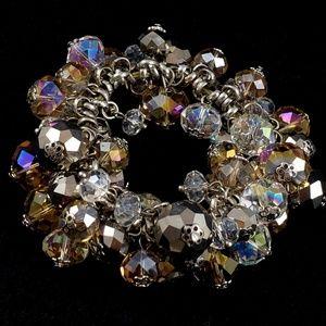 Chunky Bracelet Crystal Bracelet Stretch Bead